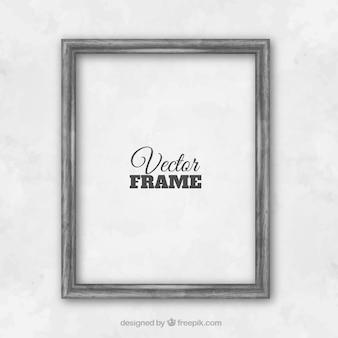 Gray wall frame Premium Vector
