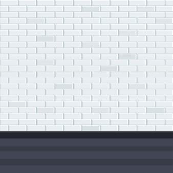 床と灰色の壁