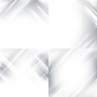 Gray and white gradient abstract background set