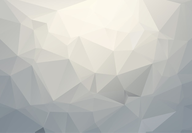 Gray white polygonal illustration, which consist of triangles. geometric background in origami style with gradient. triangular design for your business.