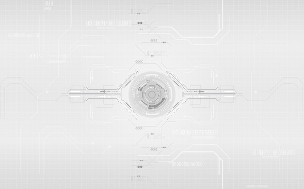 Gray and white technology digital communication network system design