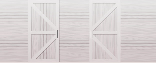Gray wooden barn door front side background horizontal illustration