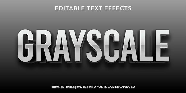 Редактируемый текстовый эффект в оттенках серого