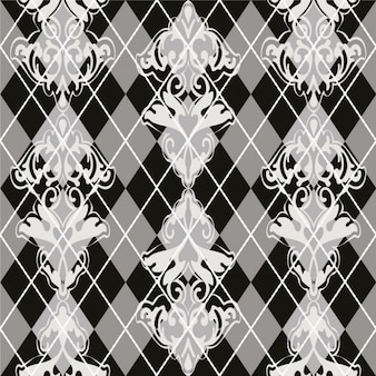Grayscale floral pattern