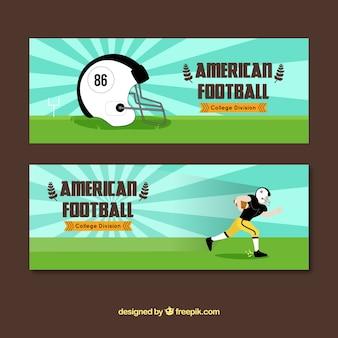 Grandi striscioni di football americano