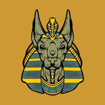 Great anubis head