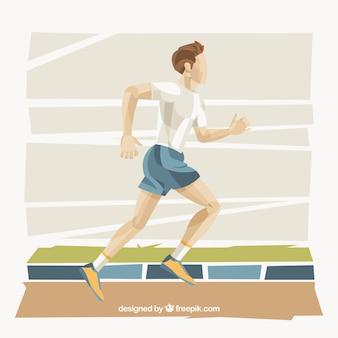 Большой фон спортсмен бег