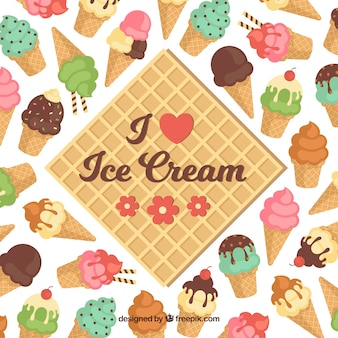 Great background with colored ice cream cones