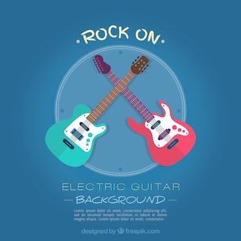 Grande sfondo con due chitarre elettriche