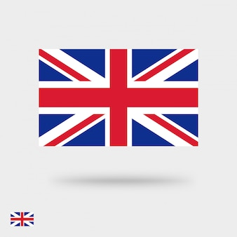 Great britain flag  icon or united kingdom symbol square pictogram flat design isolated