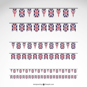 Great britain party flags template