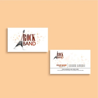 Great business card for rock band