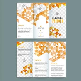 幾何学的形状と素晴らしいビジネスリーフレット