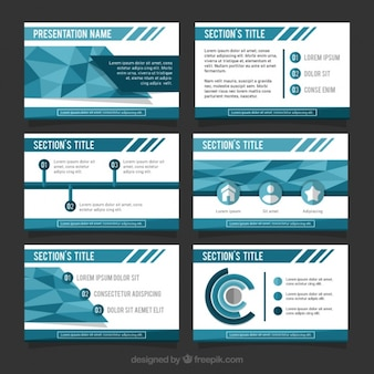 Great business presentation in blue tones