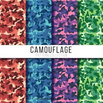 Great camouflage patterns with different colors