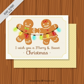 Great christmas card with gingerbread cookies