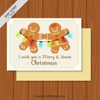 진저 쿠키와 함께 멋진 크리스마스 카드