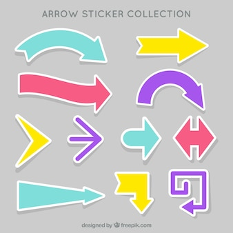 Great collection of arrow stickers