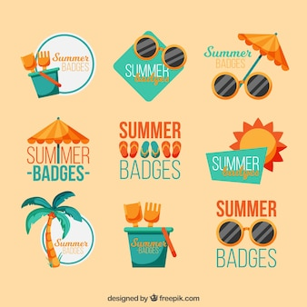 Great collection of colored summer badges