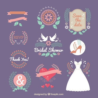 Great collection of flat bridal ornaments