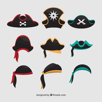 Great collection of pirate hats