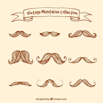 Great collection of vintage mustaches