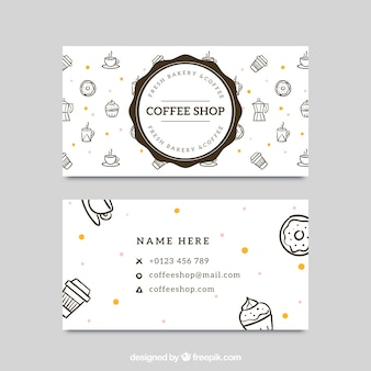 Great corporate card for coffee shop
