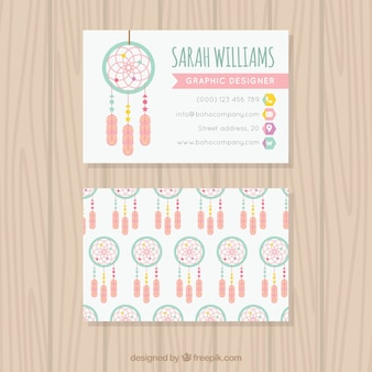 Great corporate card with dreamcatchers
