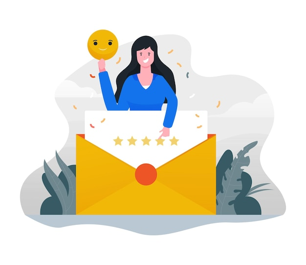 Great customer experience flat illustration