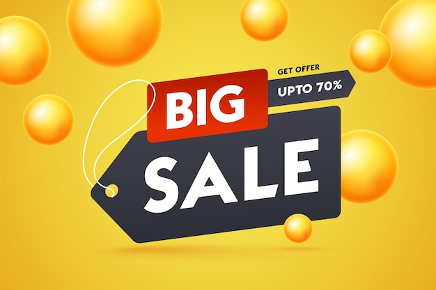 Great discount banner design with 3d golden
