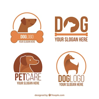 Great dog logos in brown tones