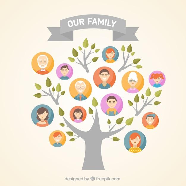 family tree vectors photos and psd files free download rh freepik com family tree vector free family tree vector image