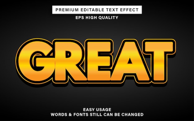 Great gold text effect