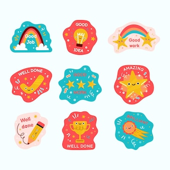 Great job stickers collection