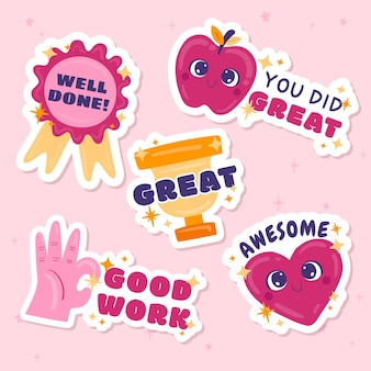 Great job stickers pack