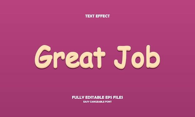 Great job text effect