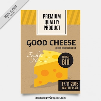 チーズの試飲のための偉大なリーフレット
