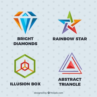 Great logos with colorful shapes