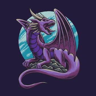 Иллюстрация великого монстра дракона