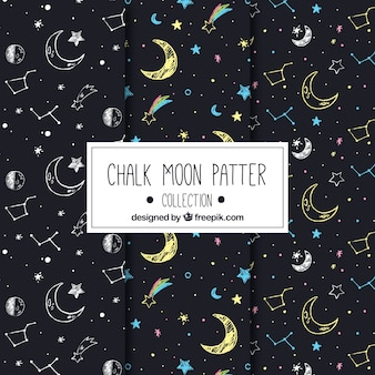 Great moon patterns with drawings
