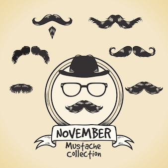 Great moustaches ready for movember