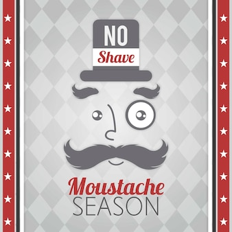 Great movember background of man with monocle