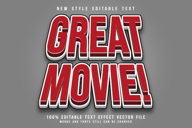 Great movie editable text effect emboss comic style