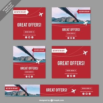 Great offers banners for travels