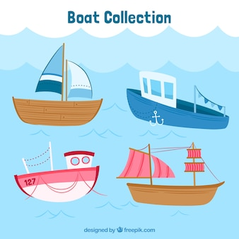 Great pack of colored boats