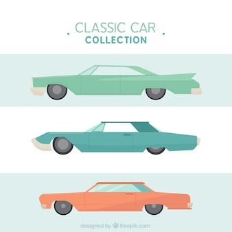 Grande pacchetto di auto d'epoca colorate