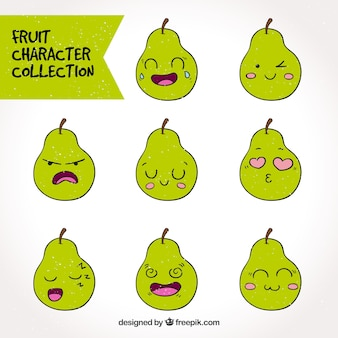 Great pack of expressive pear character