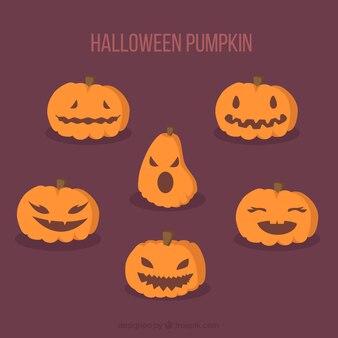 Great pack of halloween pumpkins