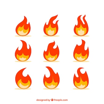 Great pack of nine flat flames