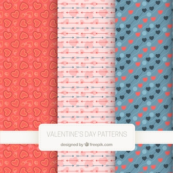 Great patterns for valentine's day with hearts and arrows